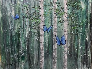 Fly in, blue butterfly - ArtGRS